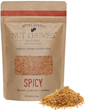Load image into Gallery viewer, Appel Foods - Nut Crumbs - Bread Crumb Alternative - Gluten Free - Sugar Free - Low Carb - Low Sodium - Raw, Premium Nuts - Spicy