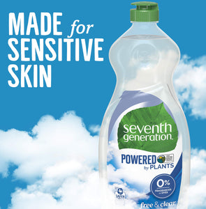 Seventh Generation Dish Liquid Soap Fragrance Free 25 oz, 6 Pack