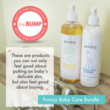 Load image into Gallery viewer, Puracy Organic Baby Care Gift Set, Travel Size Natural Lotion, Shampoo, Bubble Bath, Stain Remover