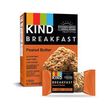 Load image into Gallery viewer, KIND Breakfast Bars, Peanut Butter, Gluten Free, 32 count x1.8oz(50g) Packs