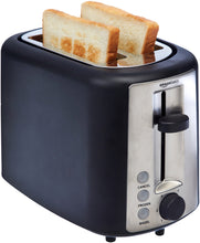 Load image into Gallery viewer, AmazonBasics 2 Slice Extra Wide Slot Toaster - Black