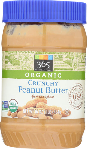 365 Everyday Value, Organic Crunchy Peanut Butter, 16 oz