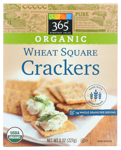 365 Everyday Value, Organic Wheat Square Crackers, 8 oz