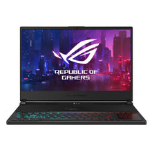 "Load image into Gallery viewer, ASUS ROG Zephyrus S Ultra Slim Gaming Laptop, 15.6"" 144Hz IPS Type FHD, GeForce RTX 2070, Intel Core i7-8750H, 16GB DDR4, 512GB PCIe NVMe SSD, Aura Sync RGB, Windows 10 64-bit, GX531GW-AS76 .62"" Thin"