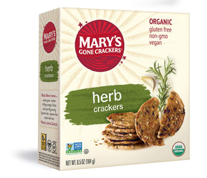 Mary's Gone Crackers Herb Crackers, Organic Brown Rice, Flax & Sesame Seeds, Gluten Free, 6.5 Ounce (Pack of 1)