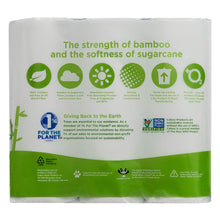 Load image into Gallery viewer, Caboo Tree Free Bamboo Paper Towels, 6 Rolls, Earth Friendly & Sustainable Kitchen Paper Towels with Strong 2 Ply Sheets
