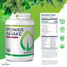 Load image into Gallery viewer, Purium Power Shake - Apple Berry Flavor - 1065 grams - Vegan Meal Replacement Powder, Protein, Vitamins & Minerals - Certified USDA Organic, Gluten Free, Kosher - 30 Servings