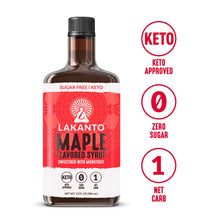 Load image into Gallery viewer, Lakanto Maple Flavored Sugar-Free Syrup, 1 Net Carb, Maple Syrup, 13 Fl. Oz (Pack of 1)