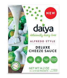 Daiya Alfredo Style Cheeze Sauce :: Creamy Veggie, Fettuccine & Spaghetti Sauce Box Contains 3 Packets (2 Servings Each)
