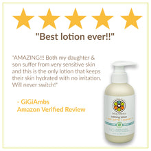 Load image into Gallery viewer, Baby Mantra Calming Lotion - EWG Verified Baby Moisturizing Cream with Shea Butter and Lavender Oil - Best for Newborns, Infants, and Babies with Sensitive Skin - 6.3 Ounce Pump Bottle