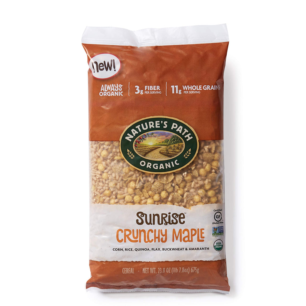 Nature's Path Sunrise Crunchy Maple Cereal, Healthy, Organic, Gluten-Free, 23.8 Ounce Bag