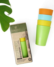 Load image into Gallery viewer, Eco-Friendly Bamboo Cups by Bamboosy - Set of 4 Reusable Bamboo Cups for Kids & Adults - Non-Toxic BPA-Free - Dishwasher Safe - Biodegradable - Perfect for Parties, Picnic, BBQ, Outdoor & Home Use