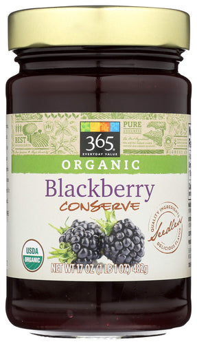 365 Everyday Value, Organic Blackberry Conserve, 17 oz