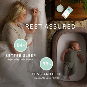 Owlet Smart Sock Baby Monitor - Track Your Infant's Heart Rate & Oxygen Levels - The Ultimate Baby Monitor for Peace of Mind