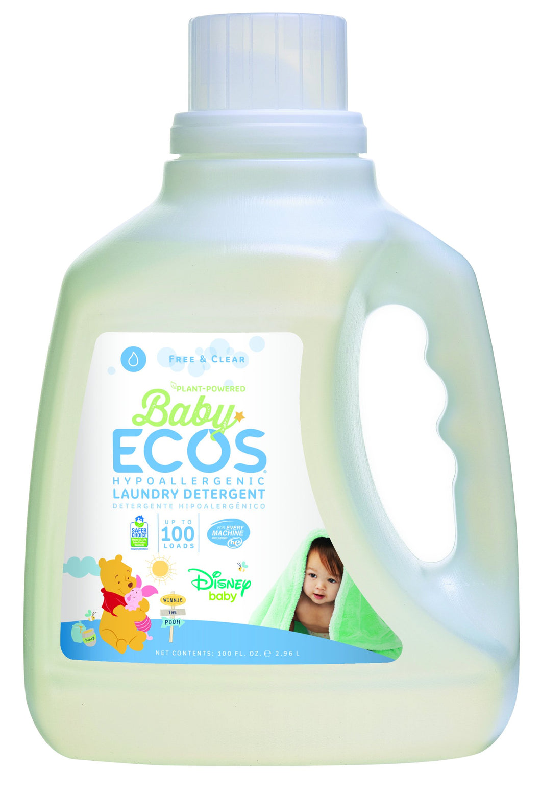 ECOS Baby Free and Clear Disney Laundry Detergent (Pack of 2)