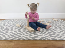 Load image into Gallery viewer, Baby Play Mat | One-Piece Reversible Foam Floor Mat | Large | Eco-Friendly | Extra Soft | Non-Toxic | 6.5ft x 4.5ft | Baby | Toddlers | Kids (Grey, Large)