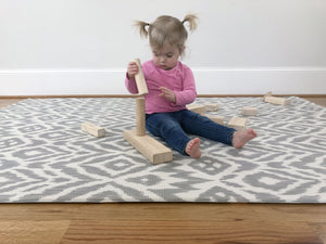 Baby Play Mat | One-Piece Reversible Foam Floor Mat | Large | Eco-Friendly | Extra Soft | Non-Toxic | 6.5ft x 4.5ft | Baby | Toddlers | Kids (Grey, Large)