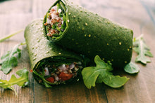 Load image into Gallery viewer, Raw Wraps Spinach- Gluten & Soy Free, Vegan & Raw, Paleo (Quinoa Seeds)