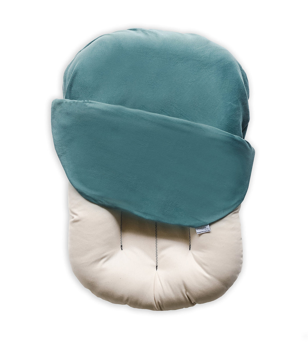 Snuggle Me Organic | Patented Sensory Lounger for Baby | Organic Cotton, Virgin Fiberfill | Moss
