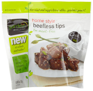 Gardein Home-Style Beefless Tips, Protein Packed, Ready in 8 Minutes, Non-GMO Project Verified, 9 Ounce (Frozen)