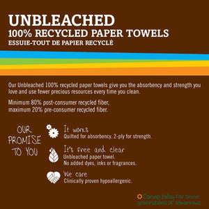 Seventh Generation Unbleached Paper Towels, 100% Recycled Paper, 6 Count (Pack of 4)