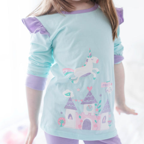 Unicorn Glitter Pajama Set