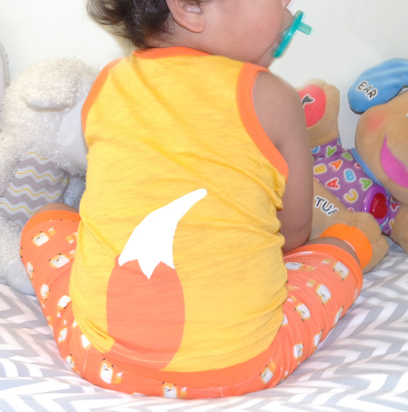 Orange Cool Fox Pajama Set