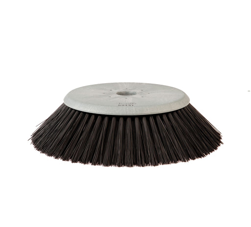 23 Inch disc polypropylene side brush.B Fits Tennant 355, 385, 6400, 6550, 6650, 8200, 8210, 8400, 8410, S20.  Fits Tennant 59431