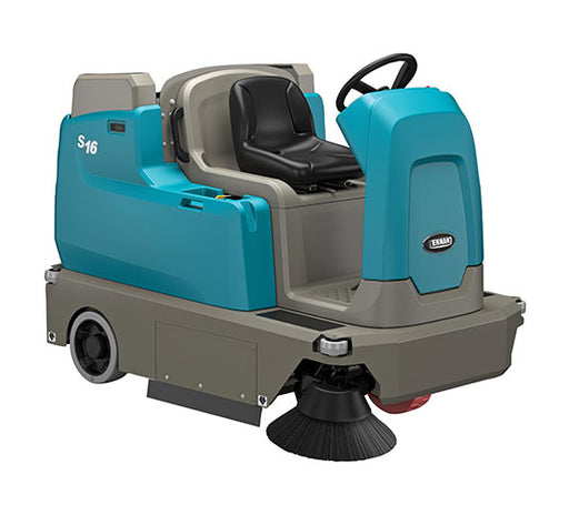 Tennant S16 Battery-Powered Compact Ride-On Sweeper