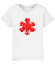 Load image into Gallery viewer, Sketch Asterisk - Red - Kids tee