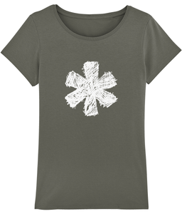 Sketch Asterisk - White - Ladies tee