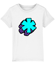Load image into Gallery viewer, 3D Asterisk - Blue - Kids tee