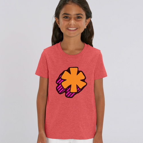 3D Asterisk - Orange - Kids tee