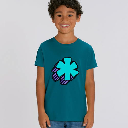 3D Asterisk - Blue - Kids tee