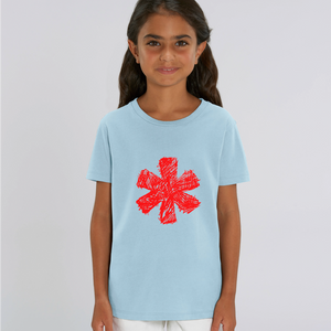 Sketch Asterisk - Red - Kids tee
