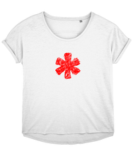 Load image into Gallery viewer, Sketch Asterisk - Red - Ladies slouch fit tee