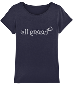 All Good - White - Ladies tee