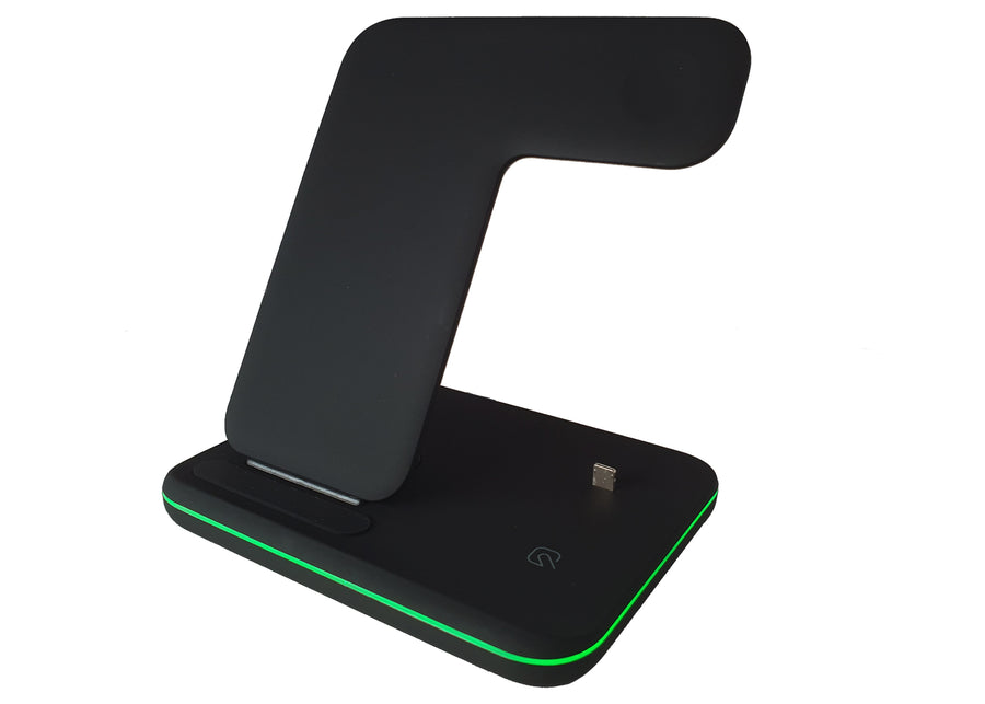 3-IN-1 Wireless charging station from an above view