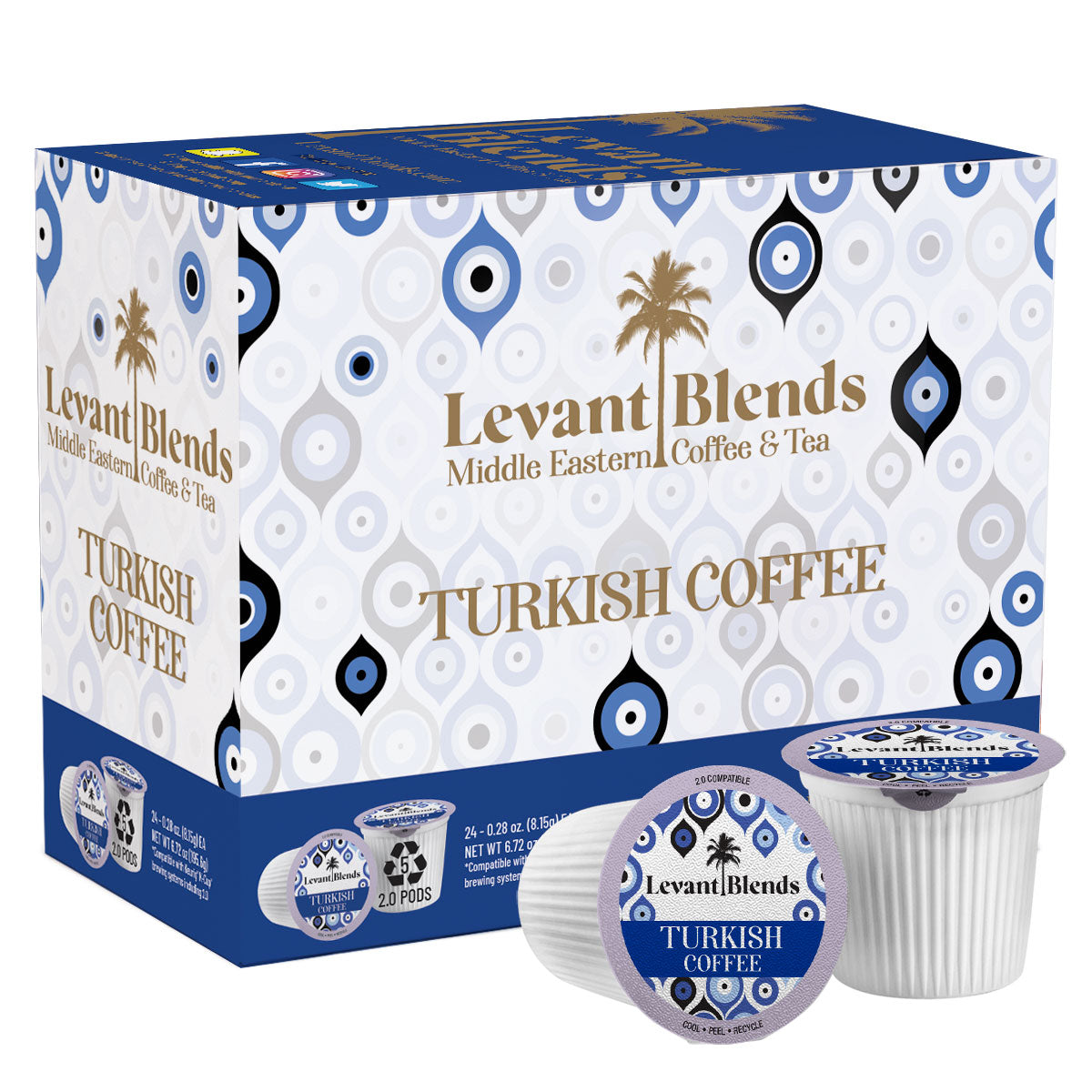Turkish Coffee Unsweetened Medium Roast for Keurig