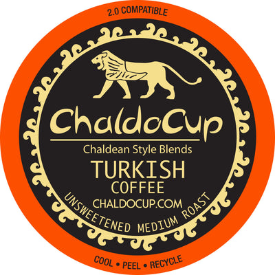 ChaldoCup Turkish Cardamom Medium Roast Keurig Compatible
