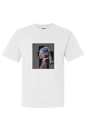 GIRL WITH PEARL EARRING Unisex Tee White - EMPIRE CLOTHING