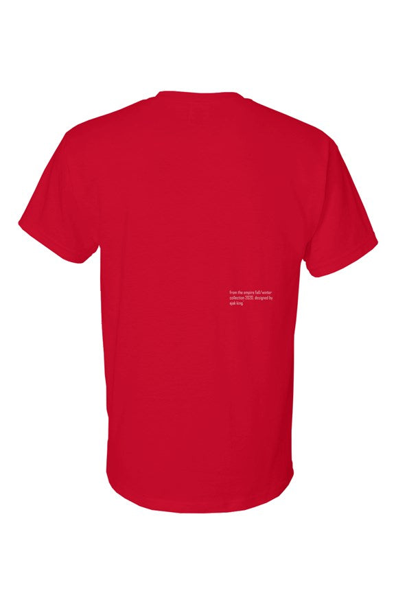 Empire Unfinished Logo Tee Red - EMPIRE CLOTHING