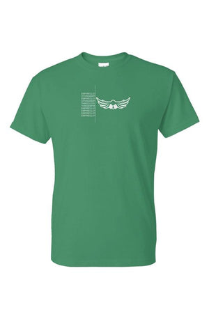 Empire Unfinished Logo Tee Green - EMPIRE CLOTHING