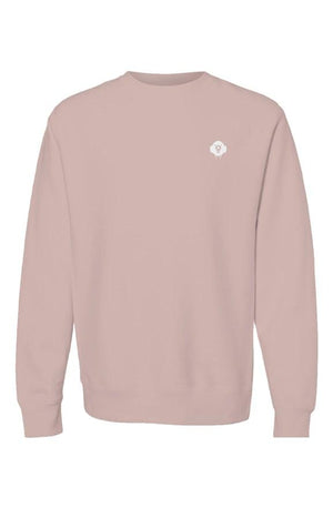 Men's Empire Cross Grain Crewneck Pink - EMPIRE CLOTHING