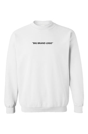 """Big Brand"" Crewneck White - EMPIRE CLOTHING"