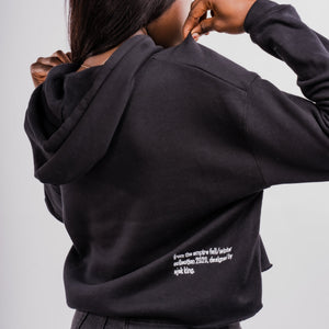 Women's Empire Split Logo Crop hoodie - EMPIRE CLOTHING