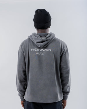 Black Pigment Dyed Hoodie - EMPIRE CLOTHING.