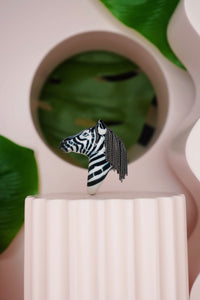 Zebra Head Ring