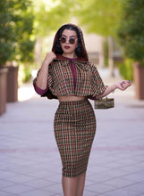 Load image into Gallery viewer, Helena Capelet set (Brown plaid)