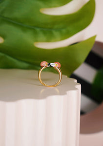Kissing Flamingos Ring
